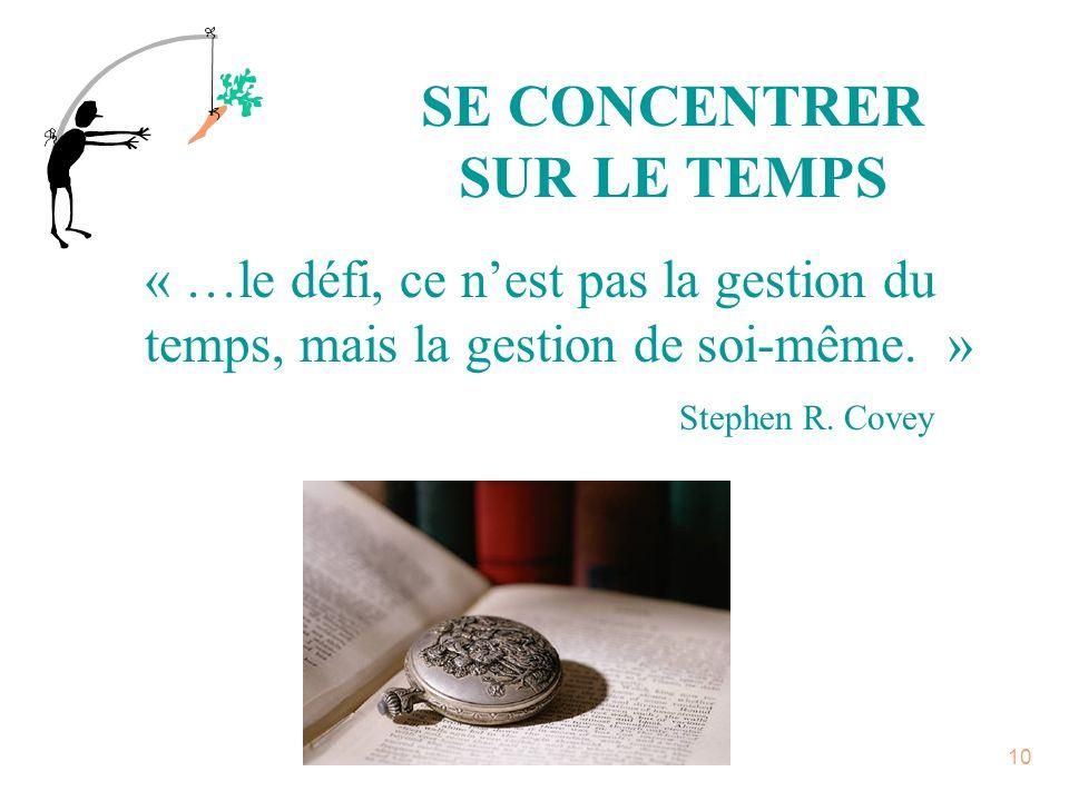 SE CONCENTRER SUR LE TEMPS