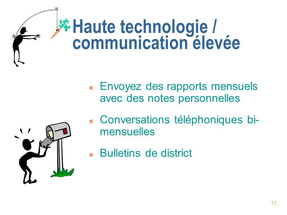 Haute technologie / communication élevée