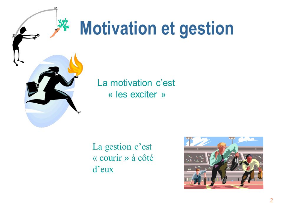 Motivation et gestion La motivation c'est « les exciter »