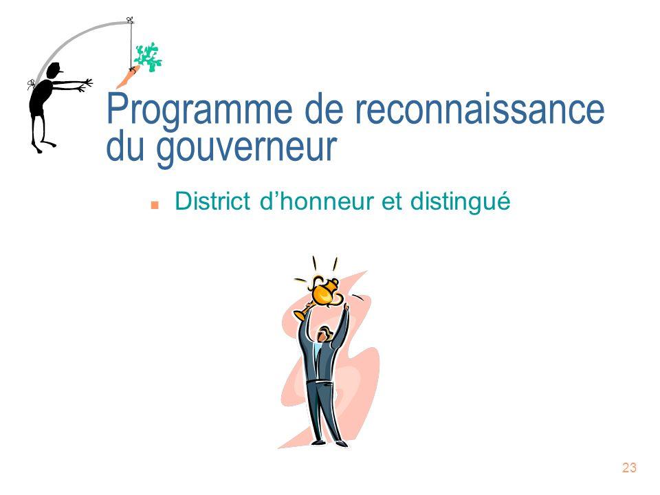 Programme de reconnaissance du gouverneur