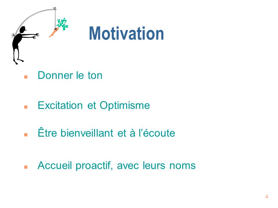Motivation Donner le ton Excitation et Optimisme