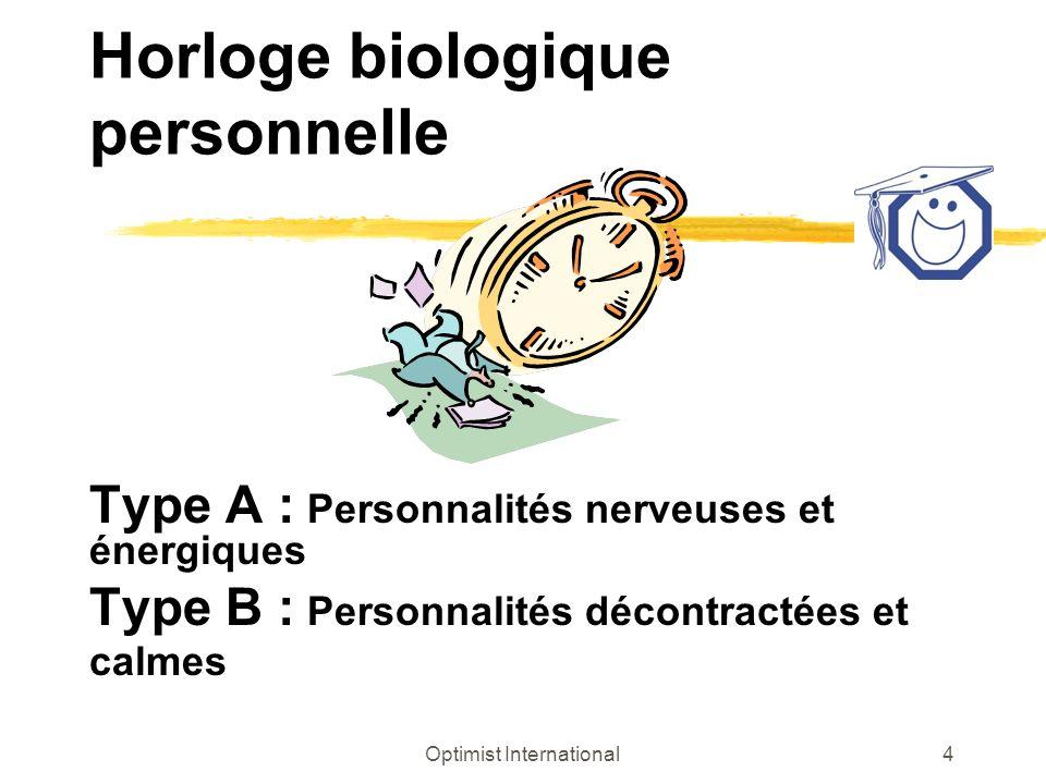 Horloge biologique personnelle