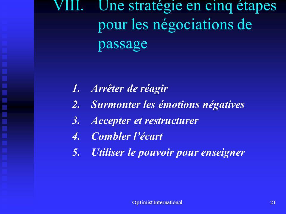 Une stratégie en cinq étapes pour les négociations de passage