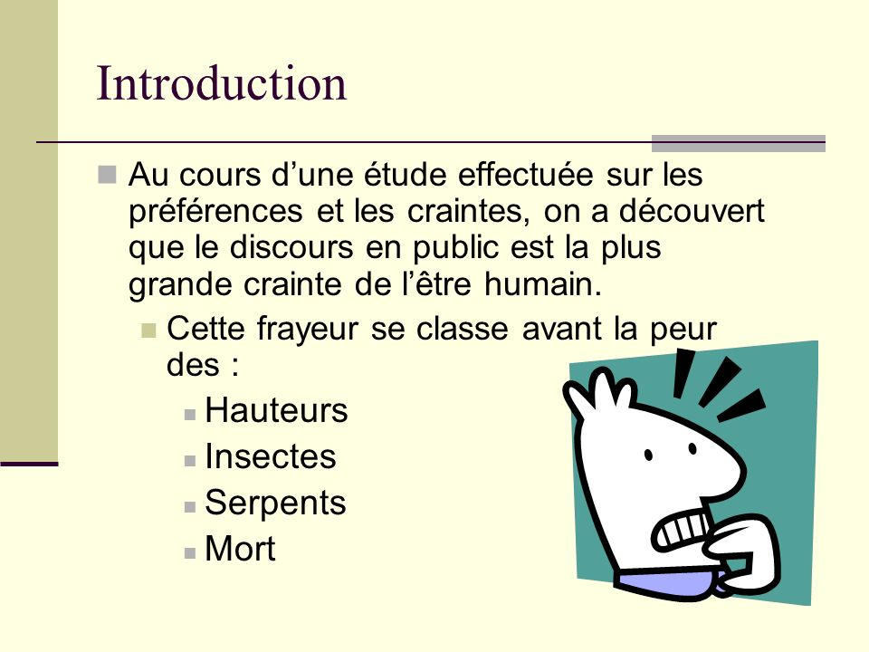 Introduction Hauteurs Insectes Serpents Mort