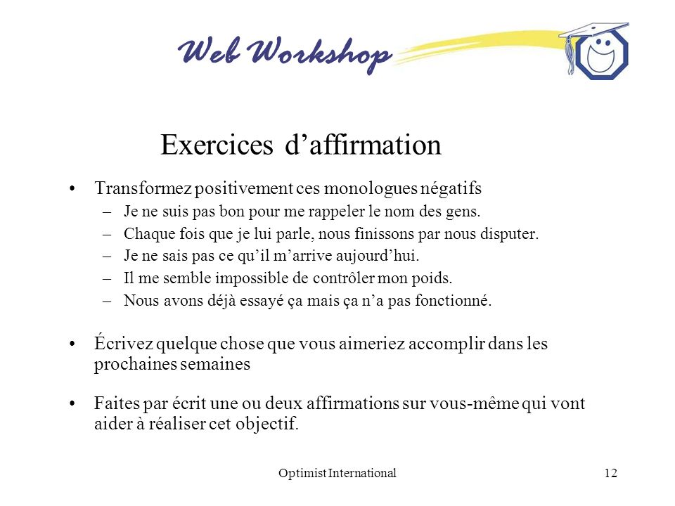 Exercices d'affirmation