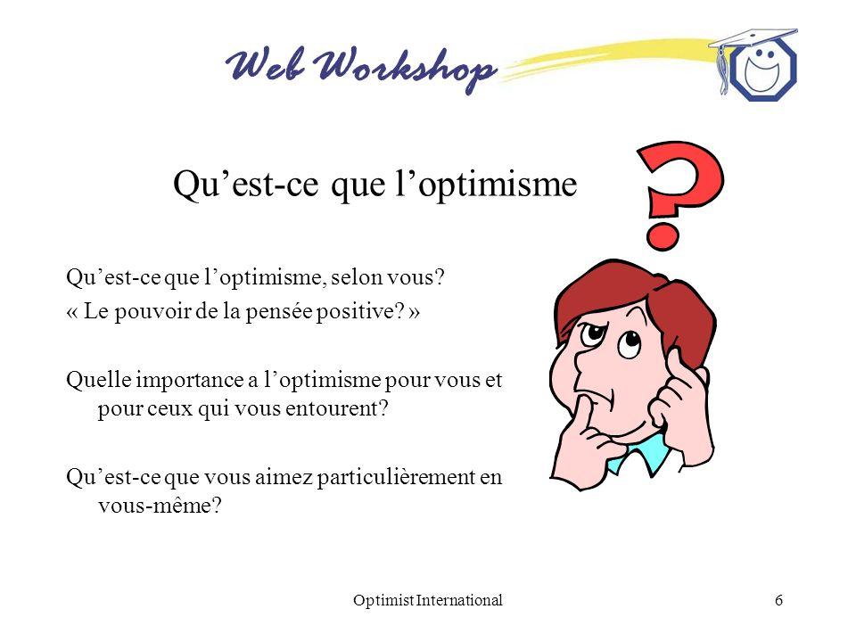 Qu'est-ce que l'optimisme