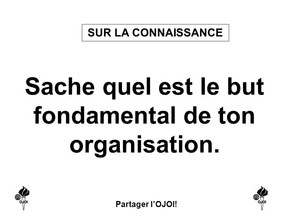 Sache quel est le but fondamental de ton organisation.