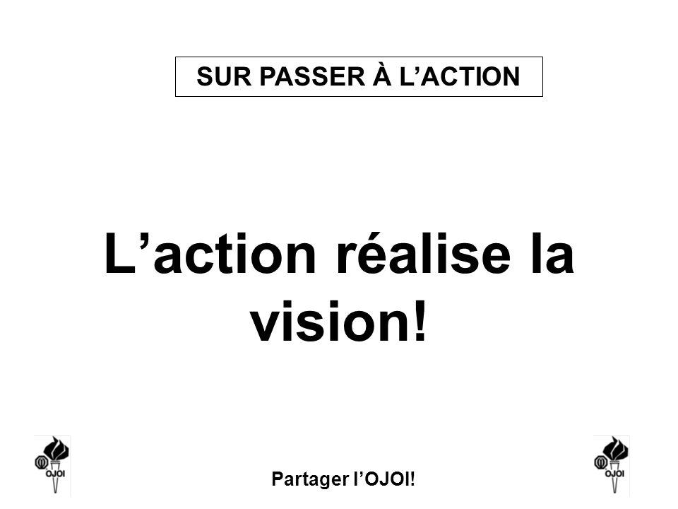 L'action réalise la vision!