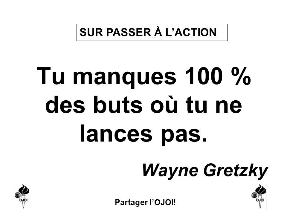 Tu manques 100 % des buts où tu ne lances pas.