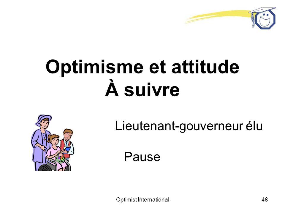 Optimisme et attitude À suivre