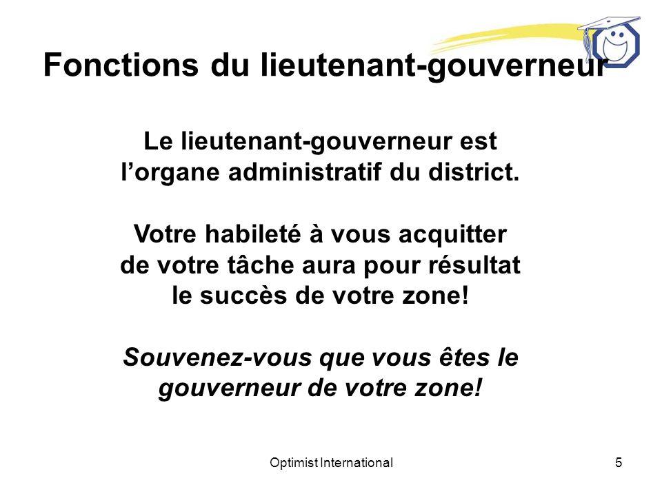Fonctions du lieutenant-gouverneur