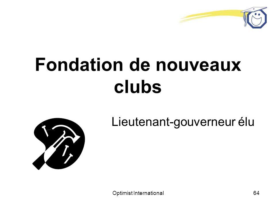 Fondation de nouveaux clubs
