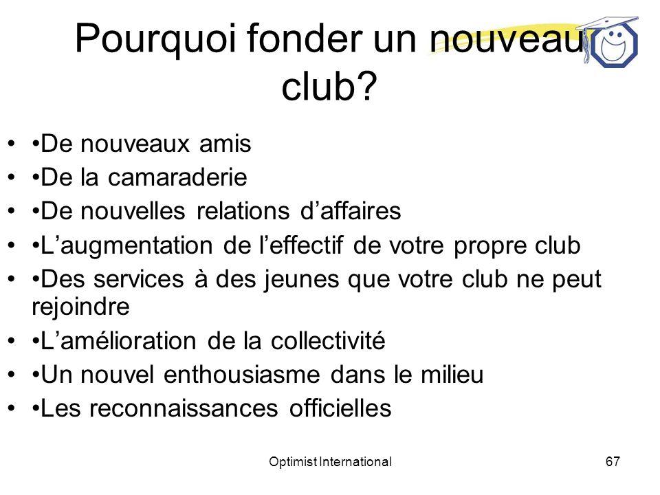 Pourquoi fonder un nouveau club