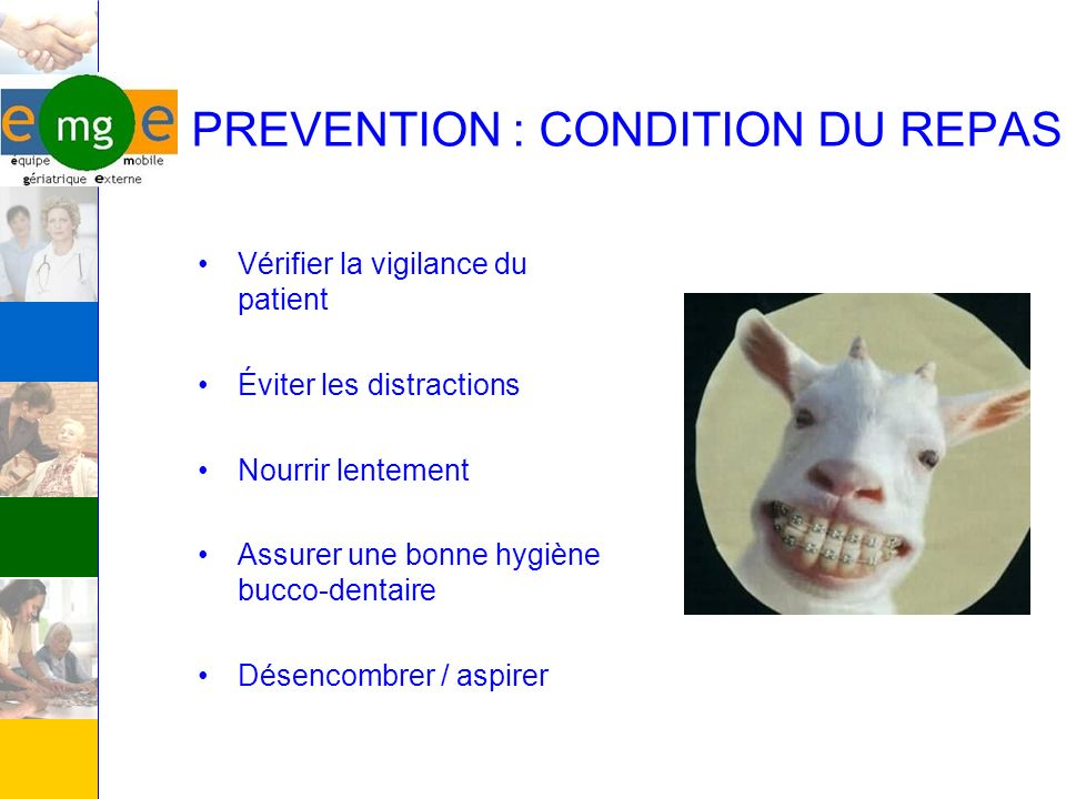 PREVENTION : CONDITION DU REPAS