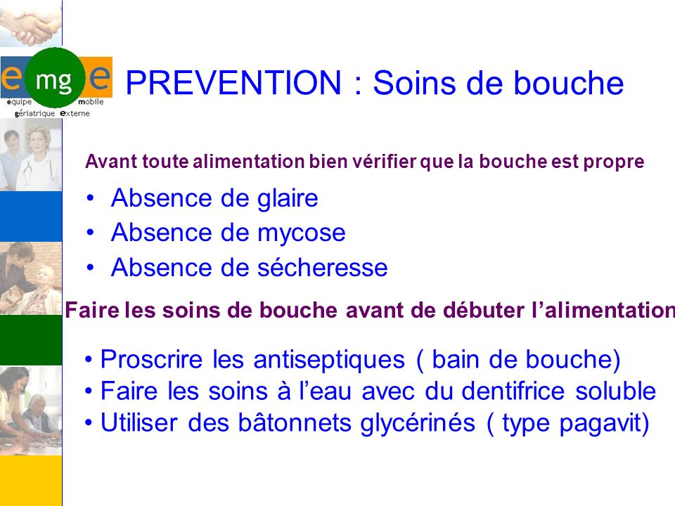 PREVENTION : Soins de bouche