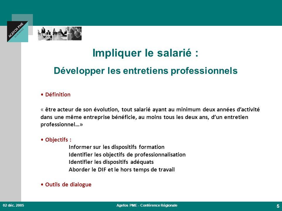 Impliquer le salarié : Développer les entretiens professionnels