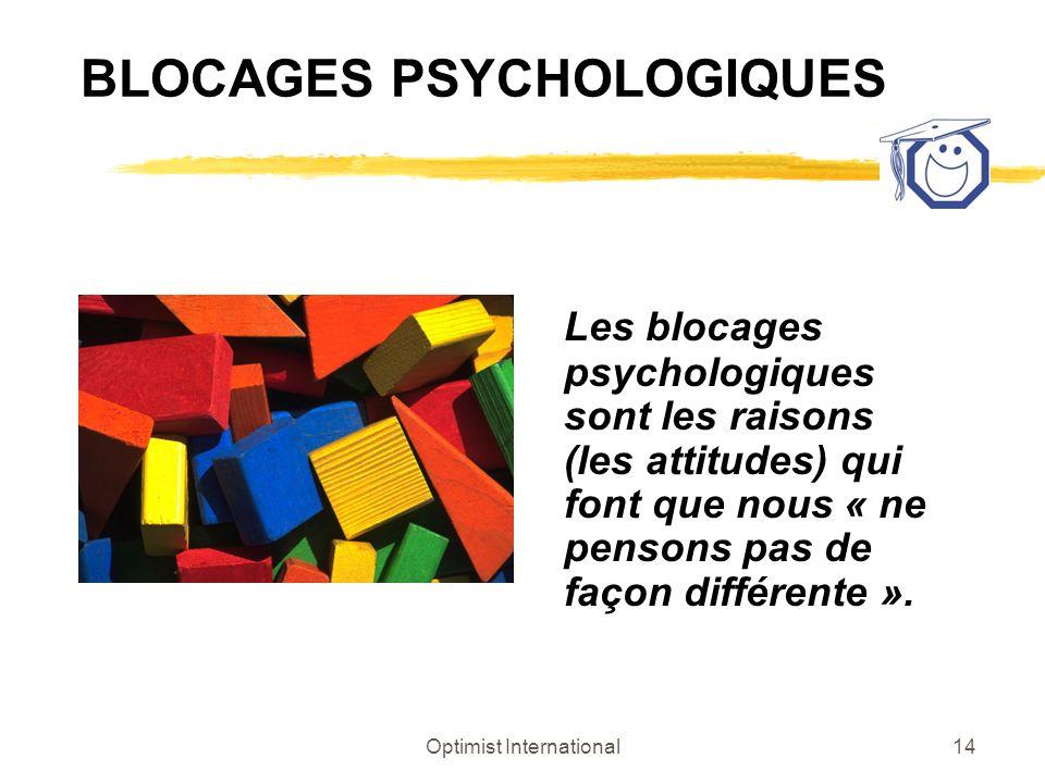 BLOCAGES PSYCHOLOGIQUES