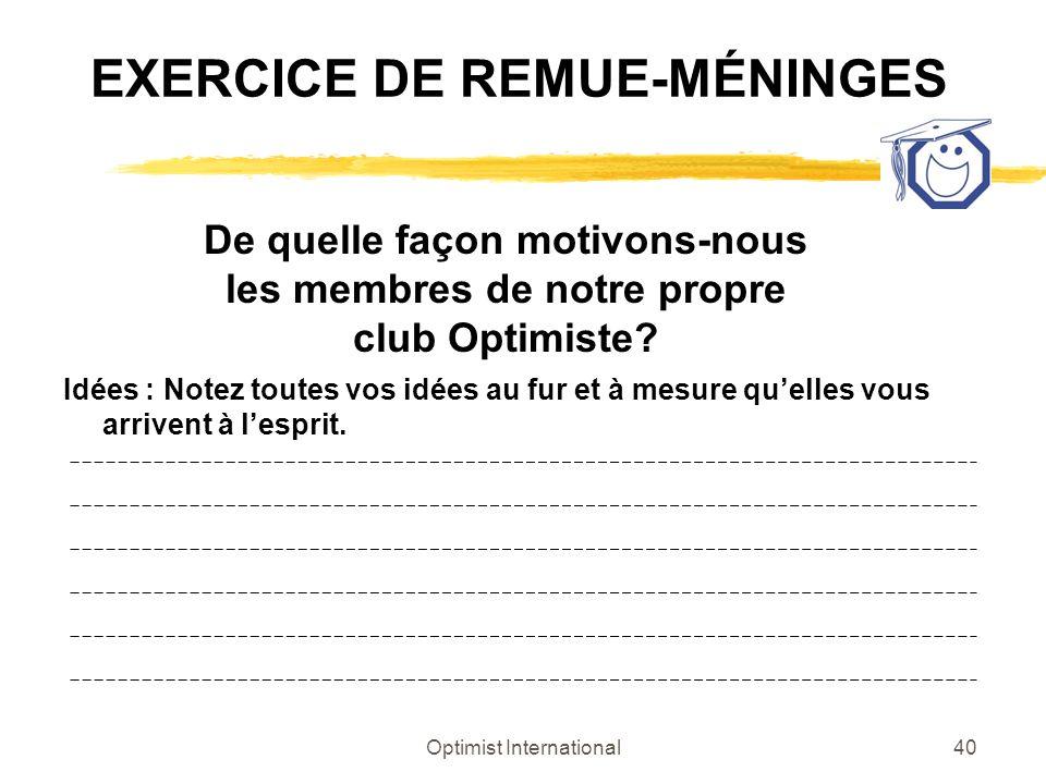 EXERCICE DE REMUE-MÉNINGES
