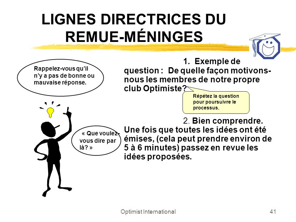 LIGNES DIRECTRICES DU REMUE-MÉNINGES