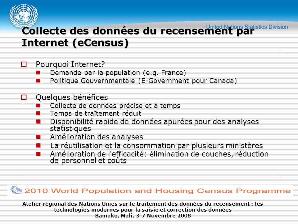 Collecte des données du recensement par Internet (eCensus)