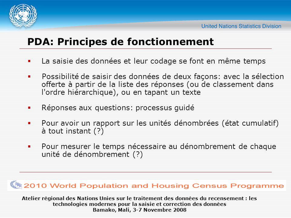 PDA: Principes de fonctionnement