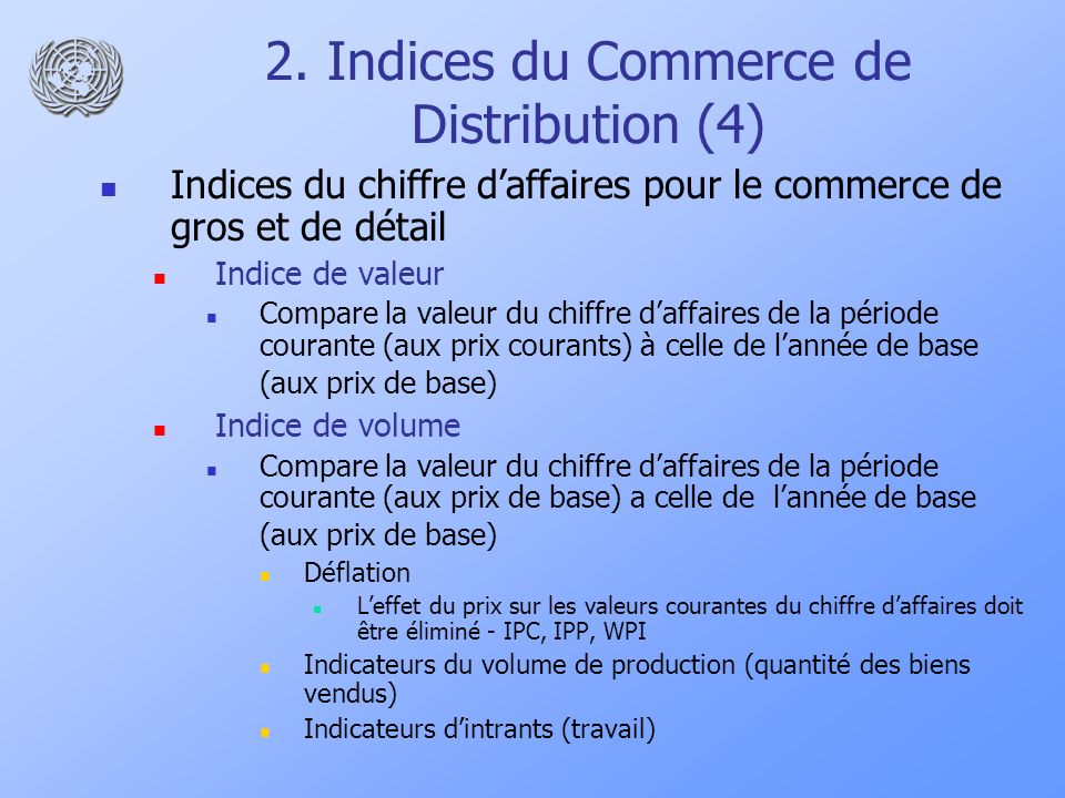 2. Indices du Commerce de Distribution (4)