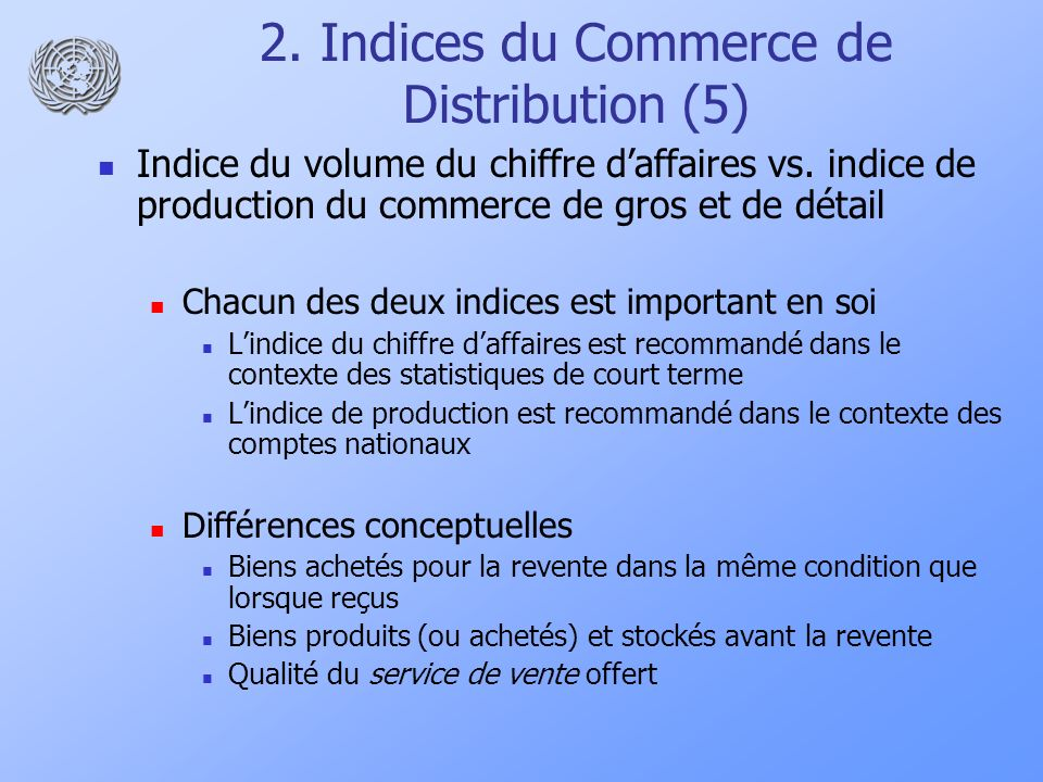 2. Indices du Commerce de Distribution (5)