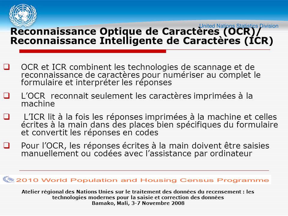 Reconnaissance Optique de Caractères (OCR)/ Reconnaissance Intelligente de Caractères (ICR)
