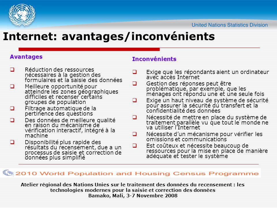 Internet: avantages/inconvénients