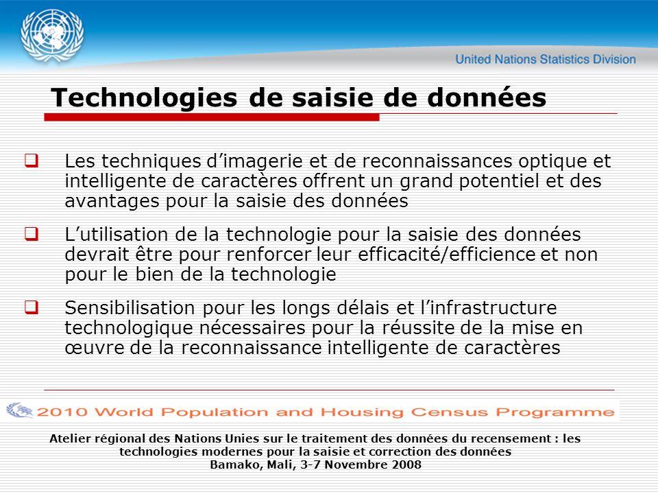 Technologies de saisie de données