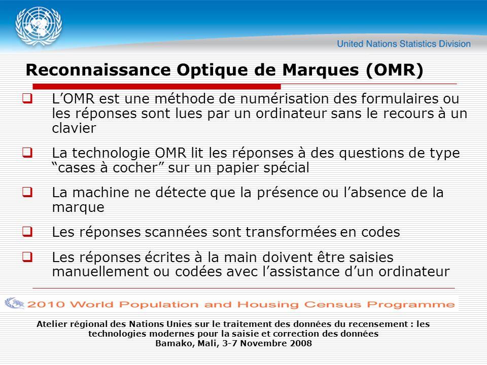 Reconnaissance Optique de Marques (OMR)