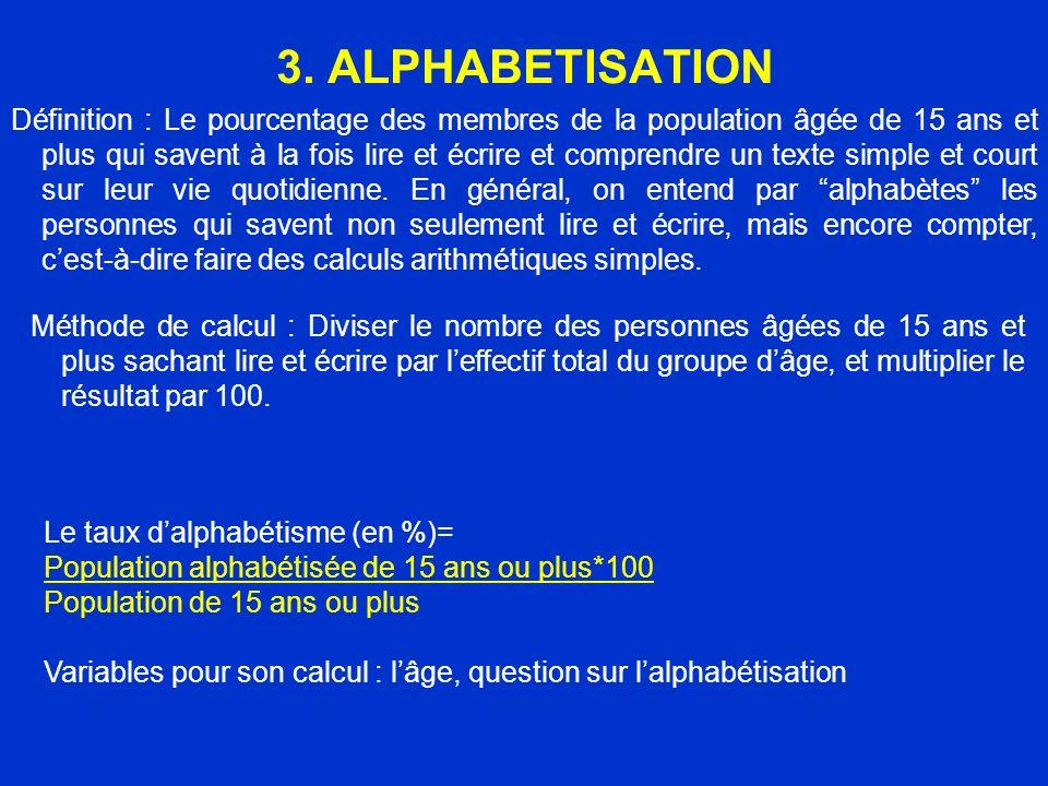 3. ALPHABETISATION