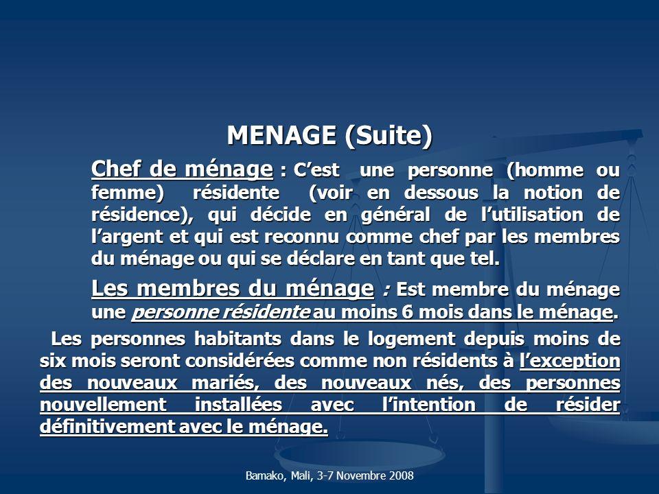 MENAGE (Suite)