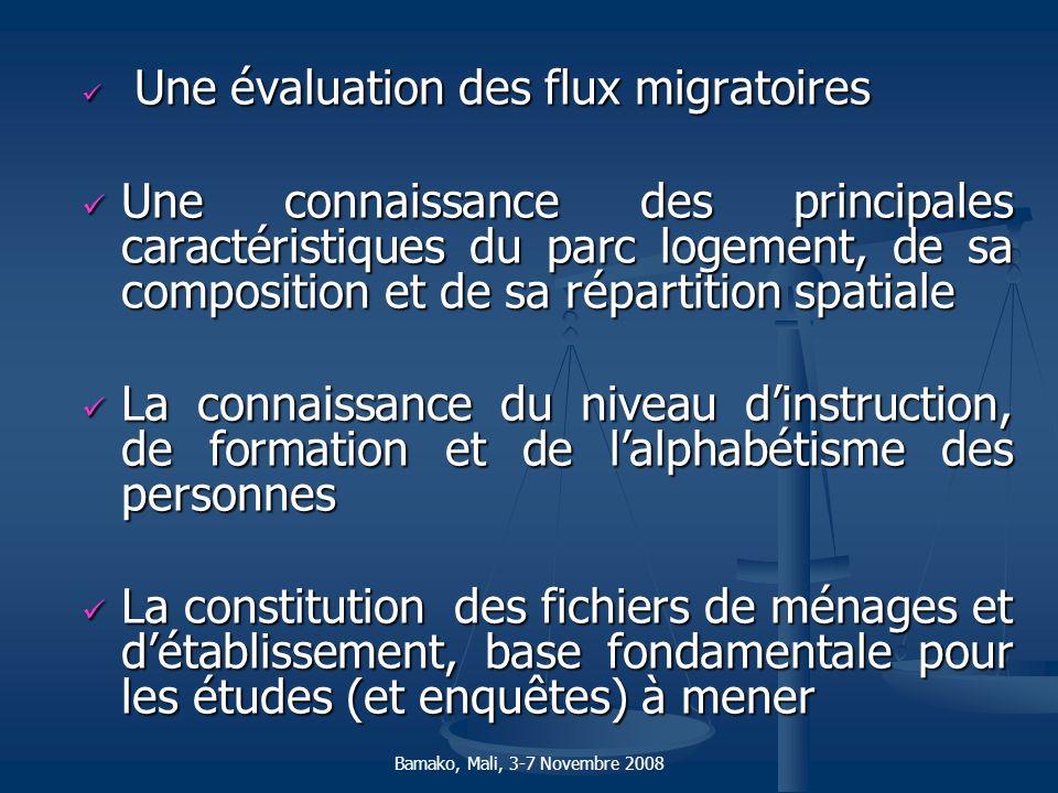 Une évaluation des flux migratoires