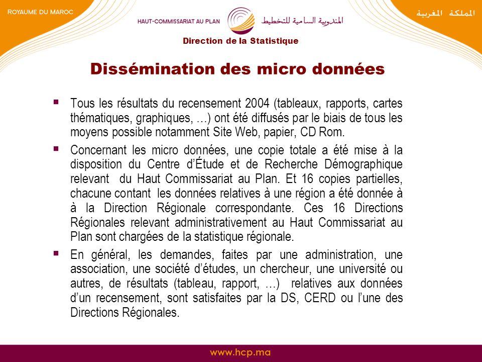 Dissémination des micro données