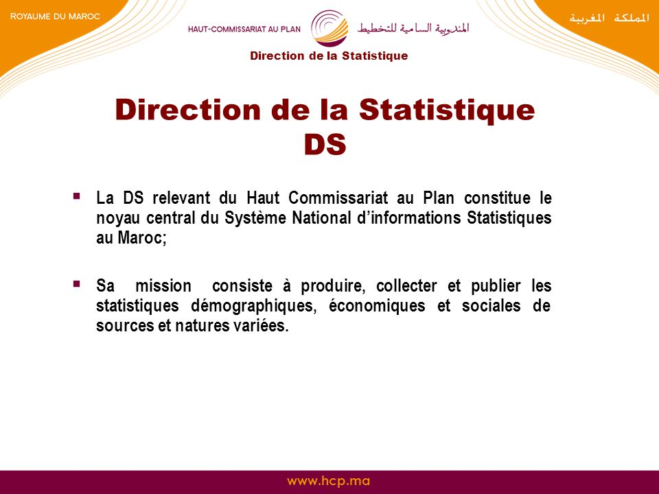 Direction de la Statistique DS