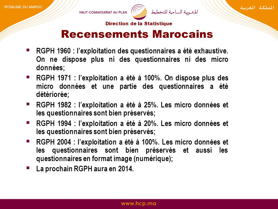 Recensements Marocains