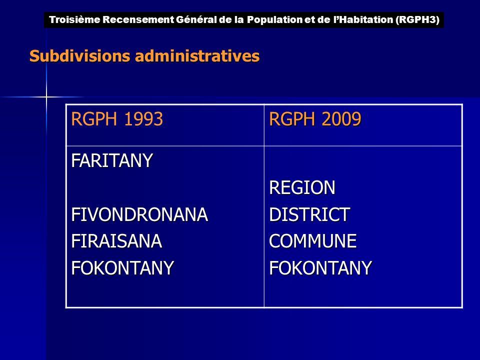 Subdivisions administratives