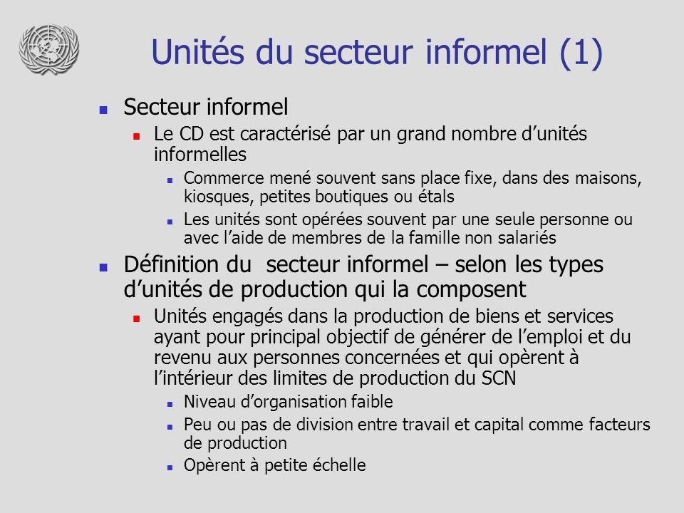 Unités du secteur informel (1)