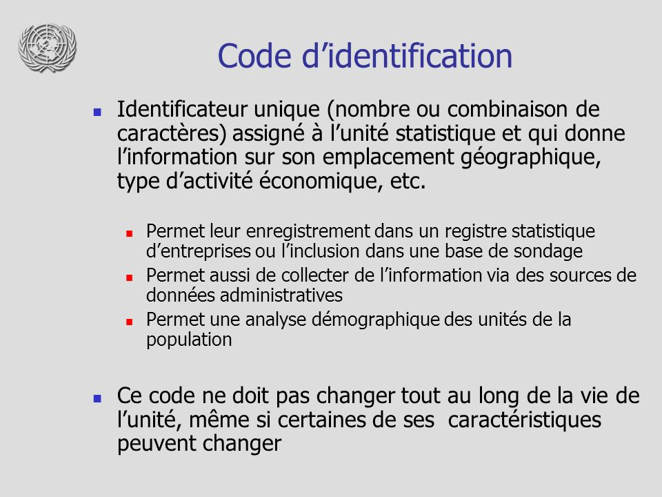Code d'identification