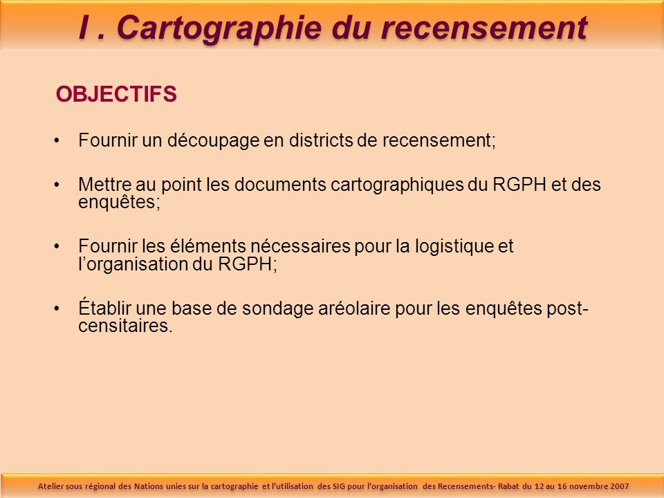 I . Cartographie du recensement