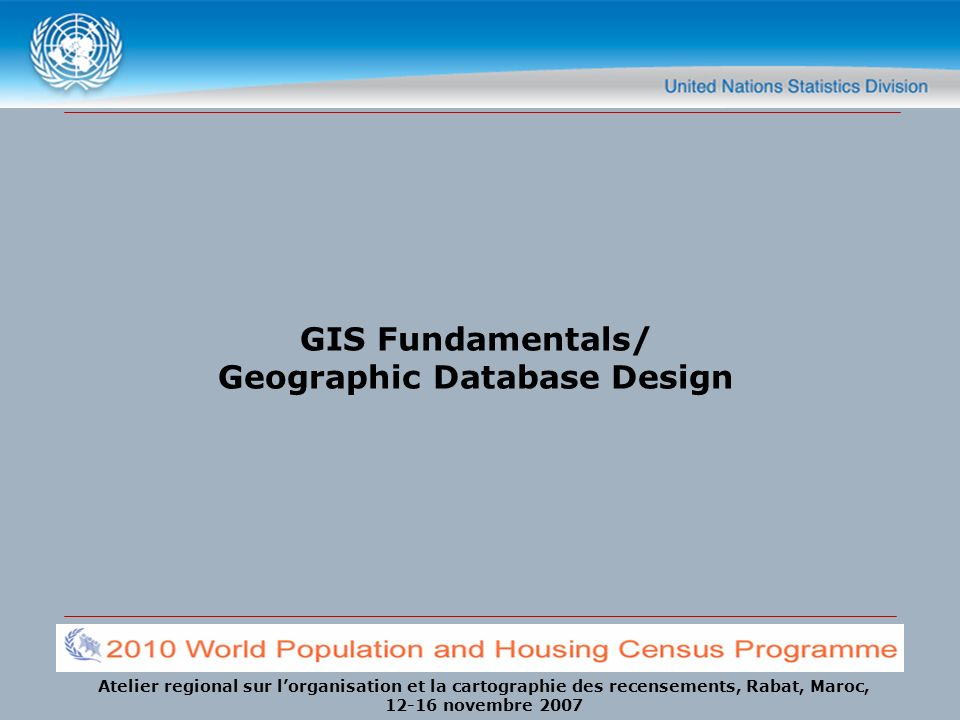 GIS Fundamentals/ Geographic Database Design
