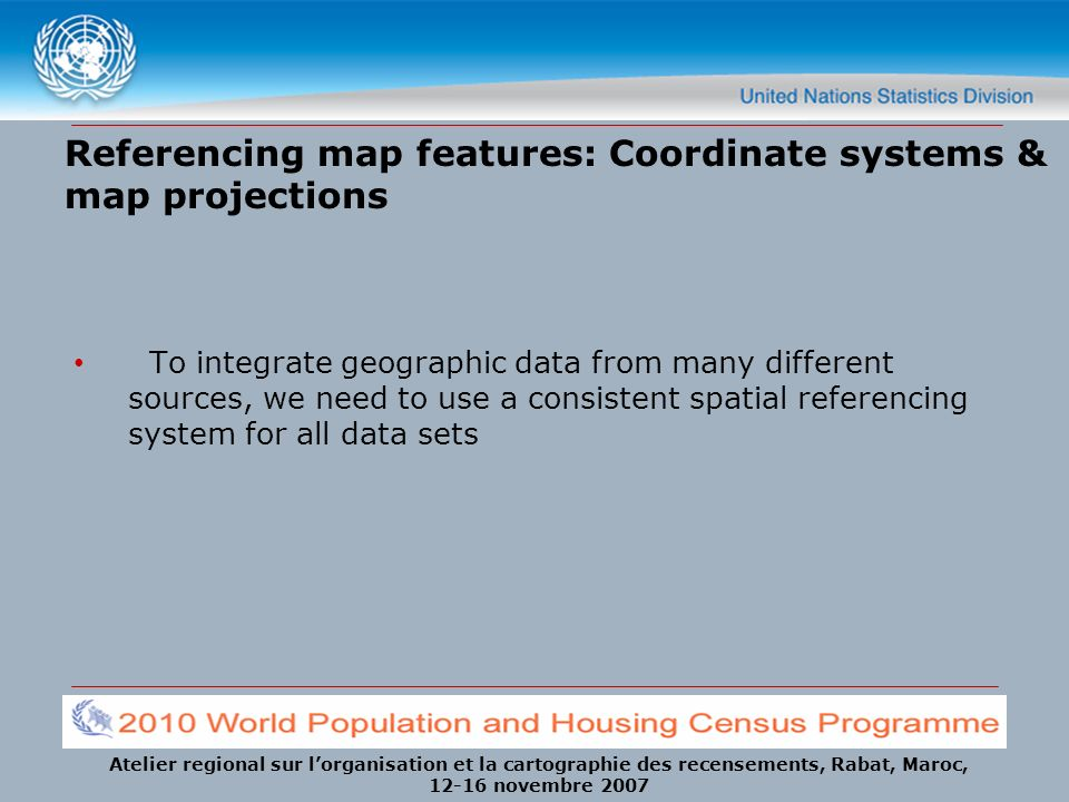 Referencing map features: Coordinate systems & map projections