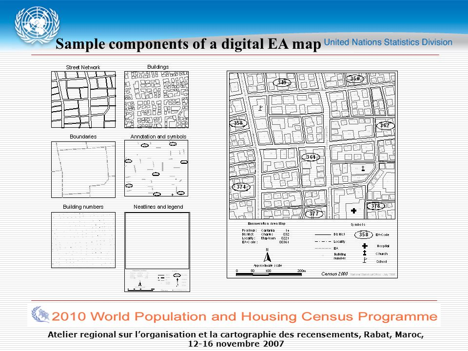 Sample components of a digital EA map