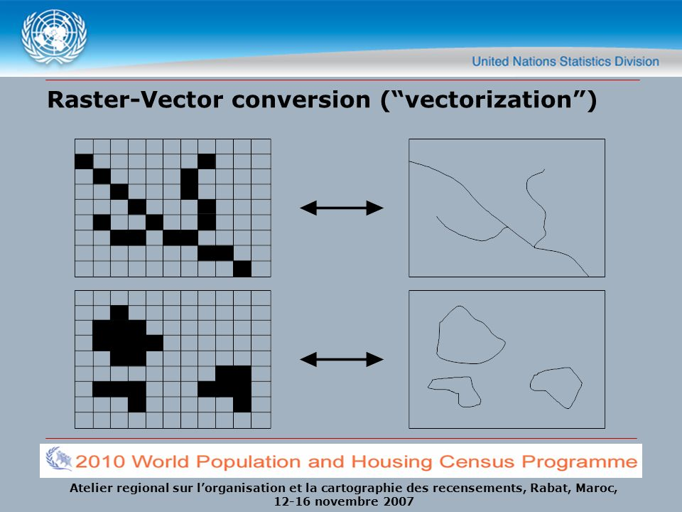 Raster-Vector conversion ( vectorization )