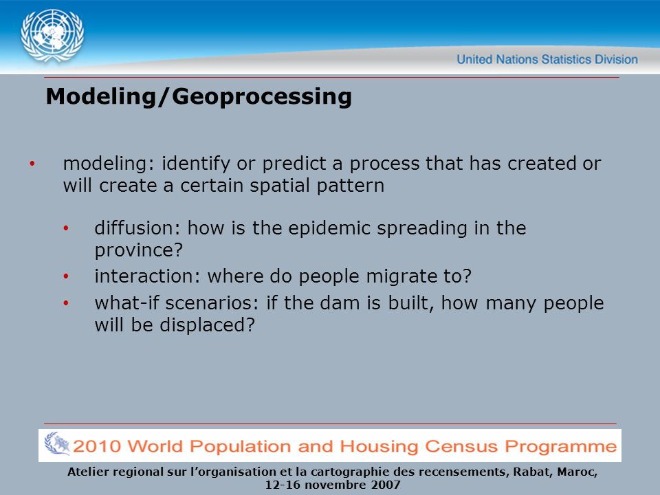 Modeling/Geoprocessing