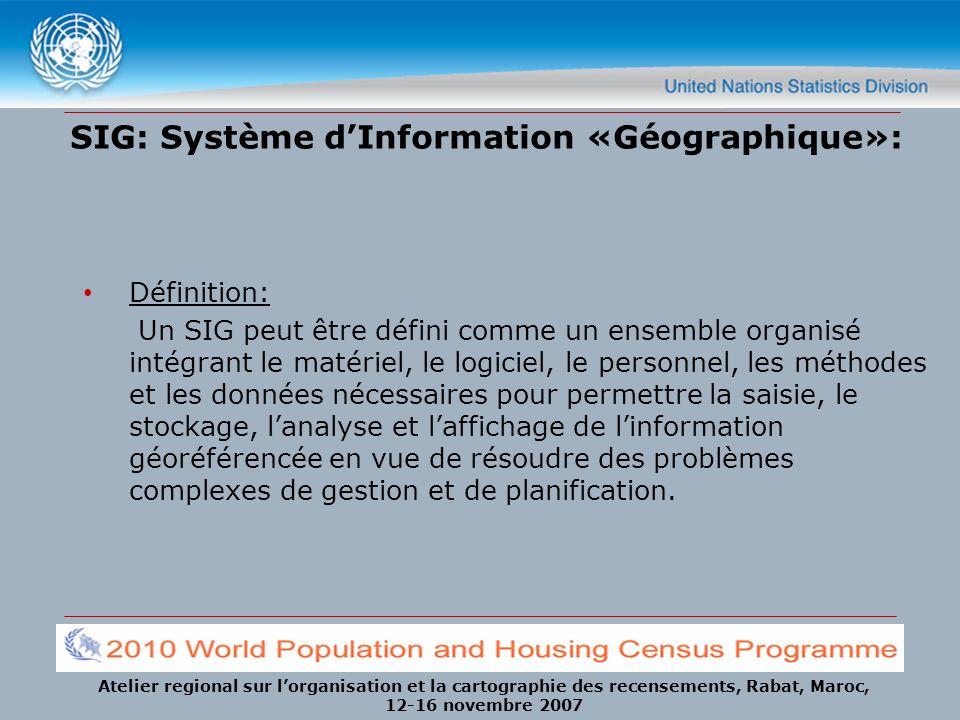 SIG: Système d'Information «Géographique»: