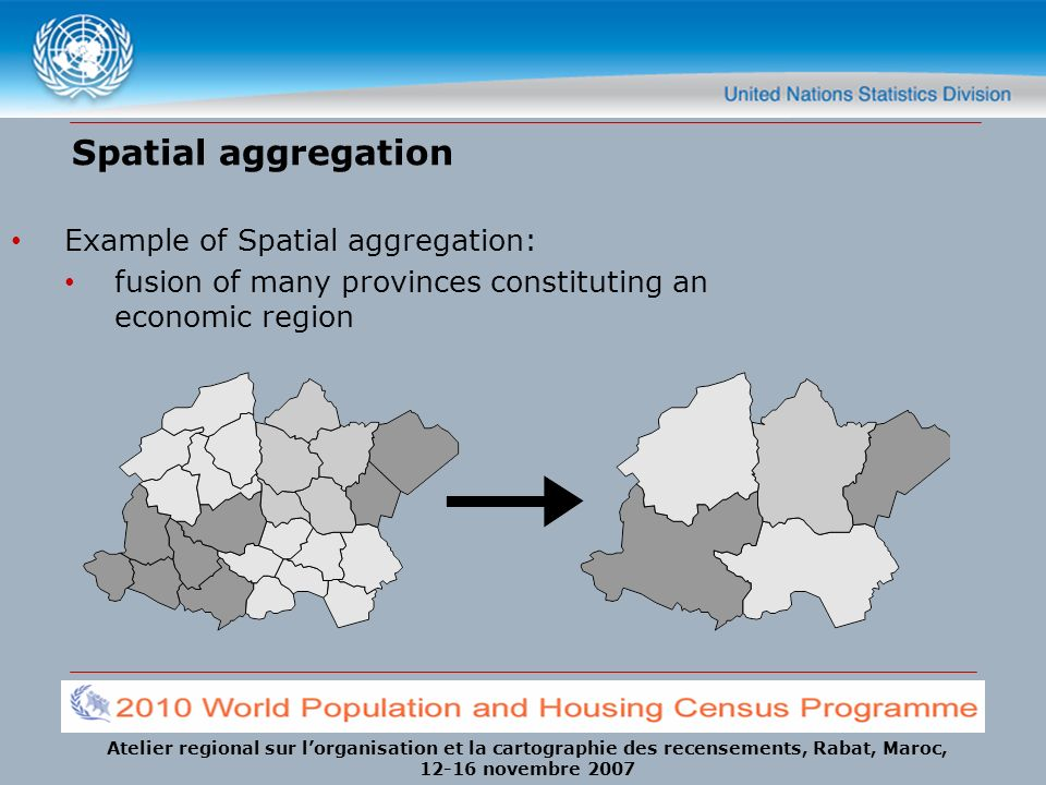 Spatial aggregation Example of Spatial aggregation: