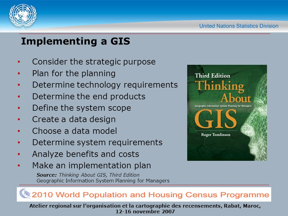 Implementing a GIS Consider the strategic purpose