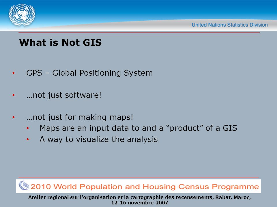 What is Not GIS GPS – Global Positioning System …not just software!